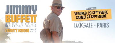 Jimmy Buffet en concerts à La Cigale de Paris en septembre 2016
