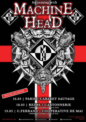 Machine Head en concert au Cabaret Sauvage de Paris en mars 2016