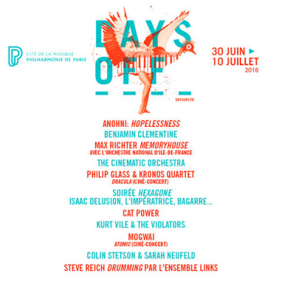 Festival Days Off 2016 à la Philharmonie de Paris : dates, programmation et réservations