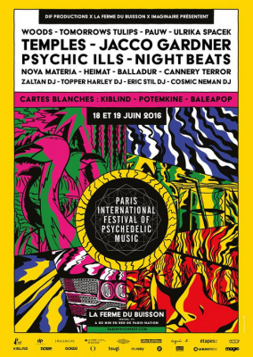 Paris International Festival of Psychedelic Music 2016 : dates, programmation et réservations