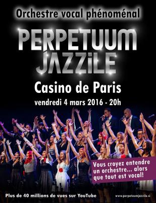 Perpetuum Jazzile en concert au Casino de Paris en mars 2016