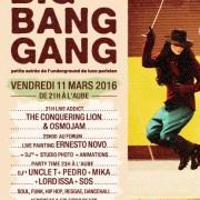 Big Bang Gang…Play With Me ! à La Bellevilloise