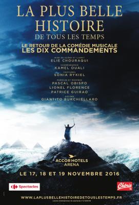 Les Dix Commandements : la comédie musicale de retour à l'Arena Bercy de Paris en novembre 2016