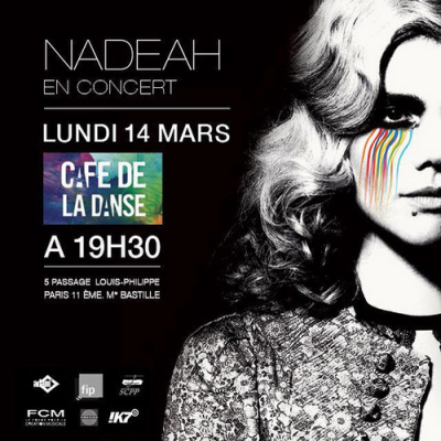 Nadeah en concert au Café de La Danse