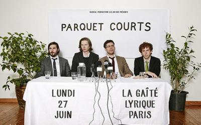 Parquet Courts en concert à La Gaîté Lyrique de Paris en juin 2016
