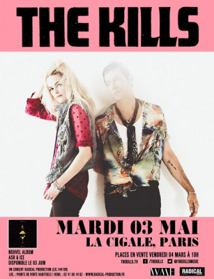 The Kills en concert à La Cigale de Paris en mai 2016