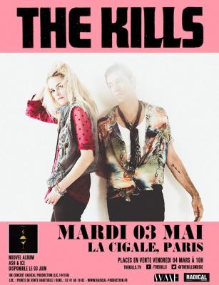 The Kills en concert à La Cigale de Paris en mai 2016