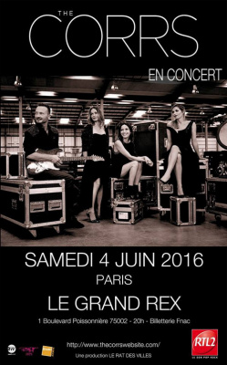The Corrs en concert au Grand Rex de Paris en juin 2016
