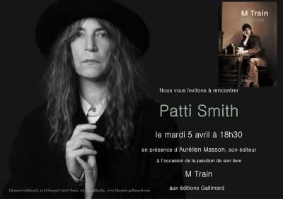 Rencontre avec Patti Smith à la librairie Gallimard à Paris