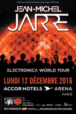 Jean-Michel Jarre en concert à l'Arena Bercy de Paris en décembre 2016