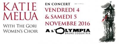 Katie Melua en concerts à l'Olympia de Paris en novembre 2016