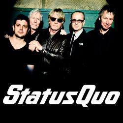 Status Quo en concert au Zénith de Paris en décembre 2016