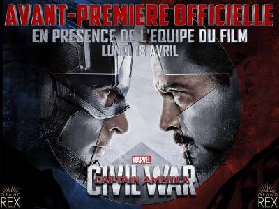 Captain America - Civil War en avant-première officielle au Grand Rex de Paris