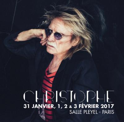 Christophe en concerts à La Salle Pleyel de Paris en 2017