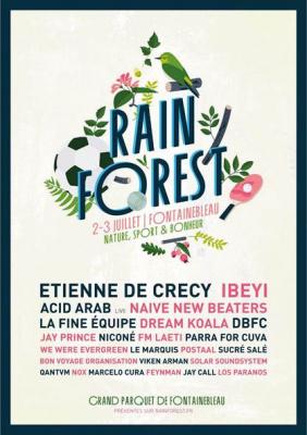RAINFOREST Festival 2016 à Fontainebleau : dates, programmation et réservations