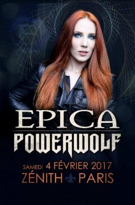 Epica en concert au Zénith de Paris en 2017