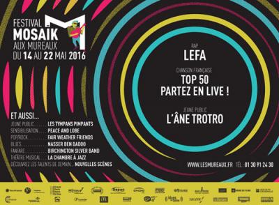 Festival Mosaïk 2016 aux Mureaux : dates, programmation et réservations