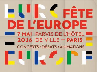 Fête de l'Europe 2016 sur le parvis de l'Hôtel de Ville de Paris