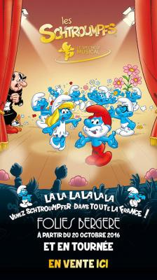 Les Schtroumpfs, le spectacle musical, aux Folies Bergère de Paris