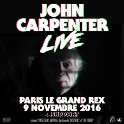John Carpenter en concert au Grand Rex de Paris en novembre 2016