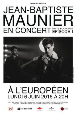 Jean-Baptiste Maunier en concert à l'Européen de Paris