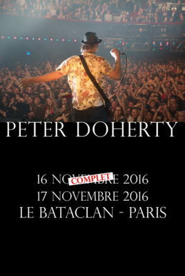 Pete Doherty : concert supplémentaire au Bataclan de Paris en novembre 2016