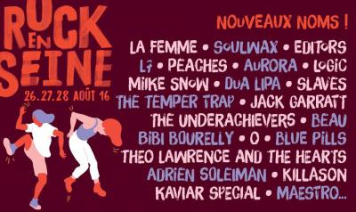 Rock En Seine 2016 : La Femme, Peaches, L7, Editors... 22 nouveaux noms à l'affiche