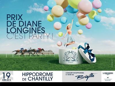Le Prix de Diane Longines 2016 à l'Hippodrome de Chantilly