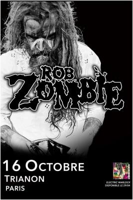 Rob Zombie en concert au Trianon de Paris en octobre 2016