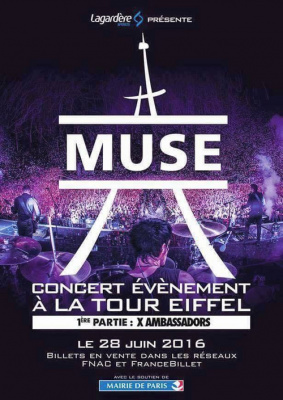 Muse en concert à la Tour Eiffel en juin 2016 ?