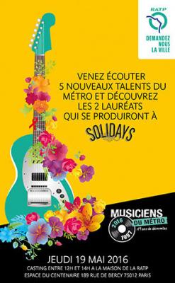 Le Casting des Musiciens du Métro 2016 à la Maison de la RATP