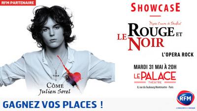 Showcase de la comédie musicale Le Rouge et le Noir au Palace