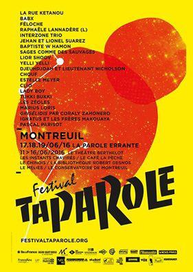 Festival Ta Parole 2016 à Montreuil : dates, programmation et réservations