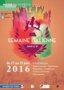 Semaine Italienne 2016 dans le 13ème à Paris
