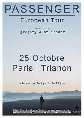 Passenger en concert au Trianon de Paris en octobre 2016