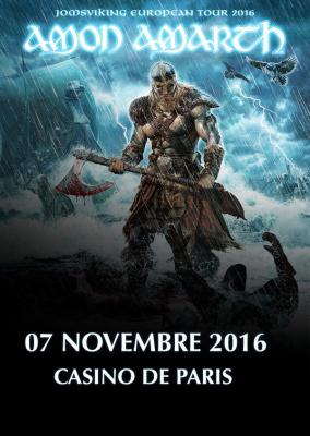 Amon Amarth en concert au Casino de Paris en novembre 2016