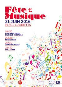 Fête de la Musique 2016 sur la Place Gambetta