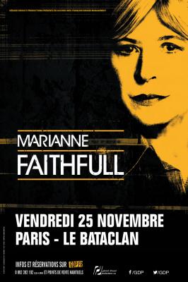 Marianne Faithfull en concert au Bataclan de Paris en novembre 2016