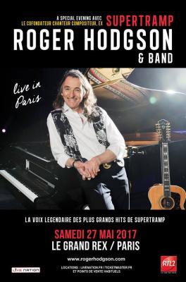 Roger Hodgson & Band en concert au Grand Rex de Paris en 2017