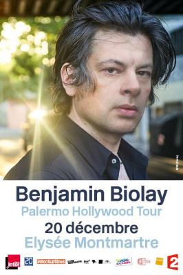 Benjamin Biolay en concert à l'Elysée Montmartre de Paris en décembre 2016