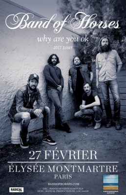 Band Of Horses en concert à l'Elysée Montmartre de Paris en 2017