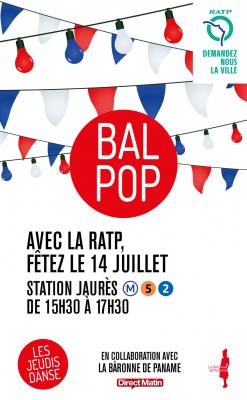 14 juillet 2016 : Bal Pop à la station Jaurès