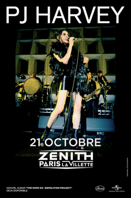 scenes concert musique articles  pj harvey en au zenith de paris octobre