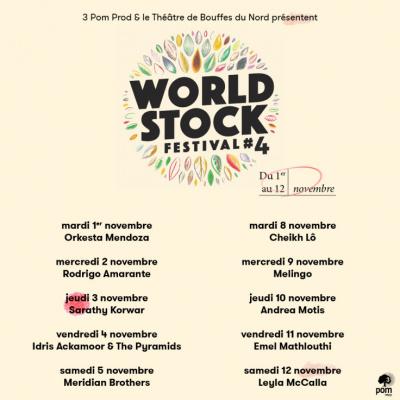 Festival WorldStock 2016 au Théâtre des Bouffes du Nord