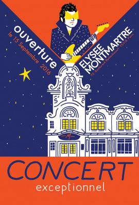 Réouverture de l'Elysée Montmartre le 15 septembre 2016 avec -M- en concert