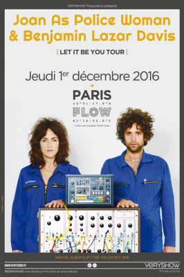 Joan As Police Woman & Benjamin Lazar Davis au Flow à Paris