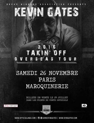 Kevin Gates en concert à La Maroquinerie de Paris en novembre 2016