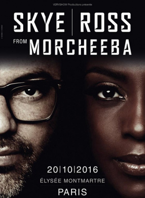 Skye & Ross de Morcheeba en concert à l'Elysée Montmartre de Paris en octobre 2016