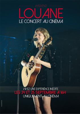 Louane en concert au cinéma