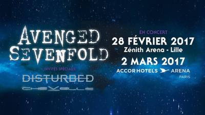 Avenged Sevenfold en concert à l'Arena Bercy de Paris en 2017